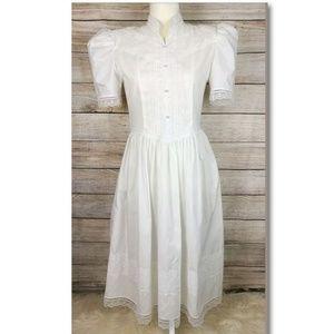 Vintage Gunne Sax Jessica McClintock White Dress